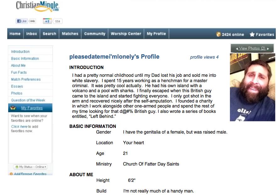 Christian mingle profile